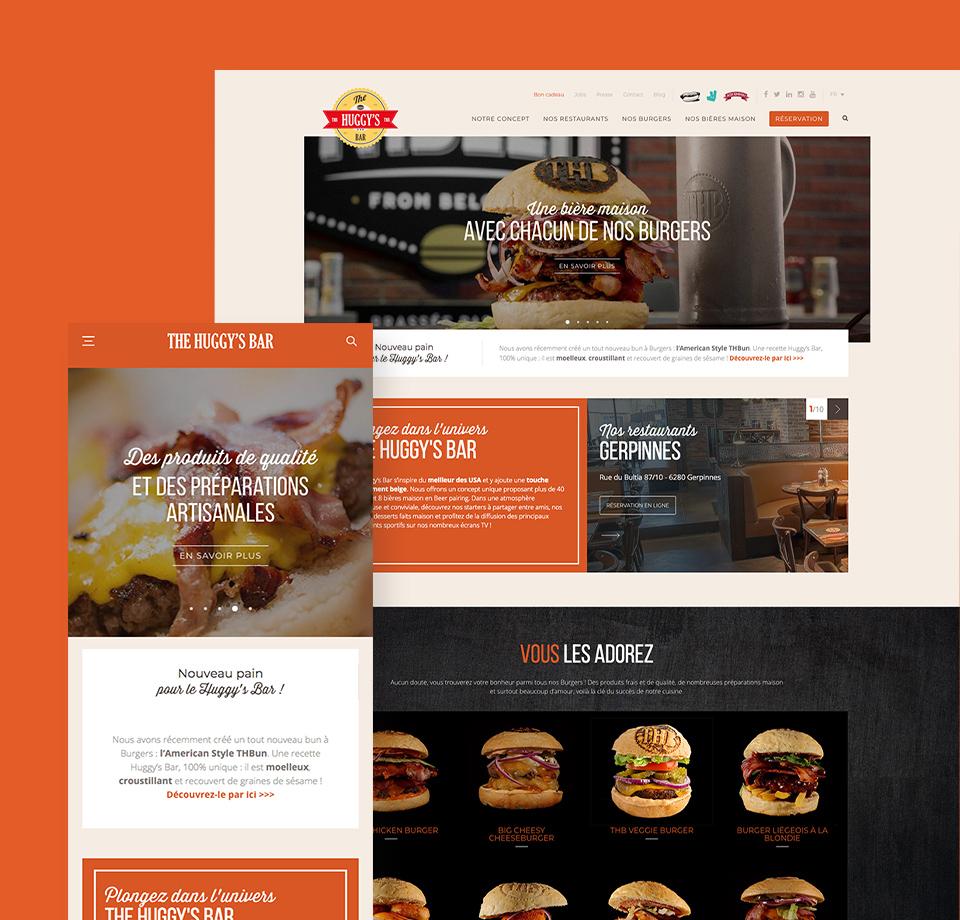 Site internet The Huggy's Bar