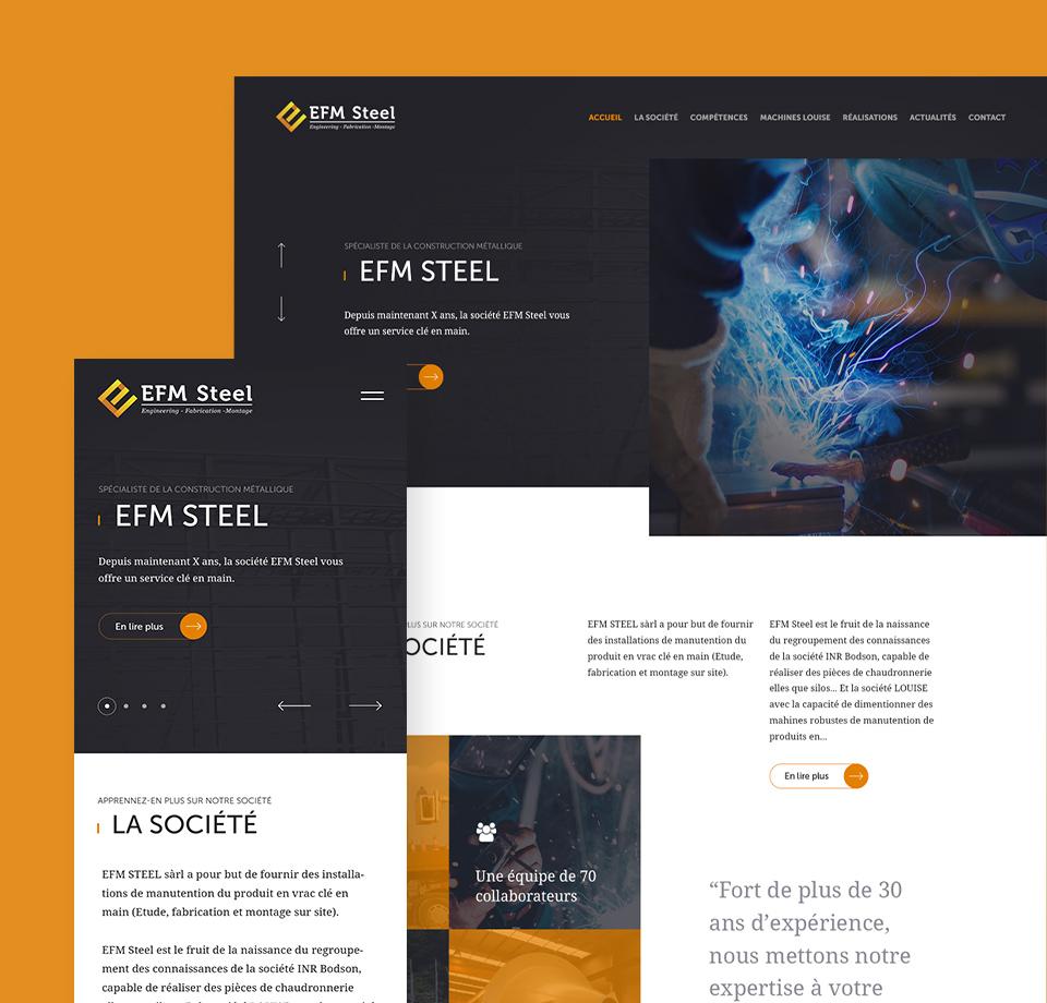Site internet Efm Steel
