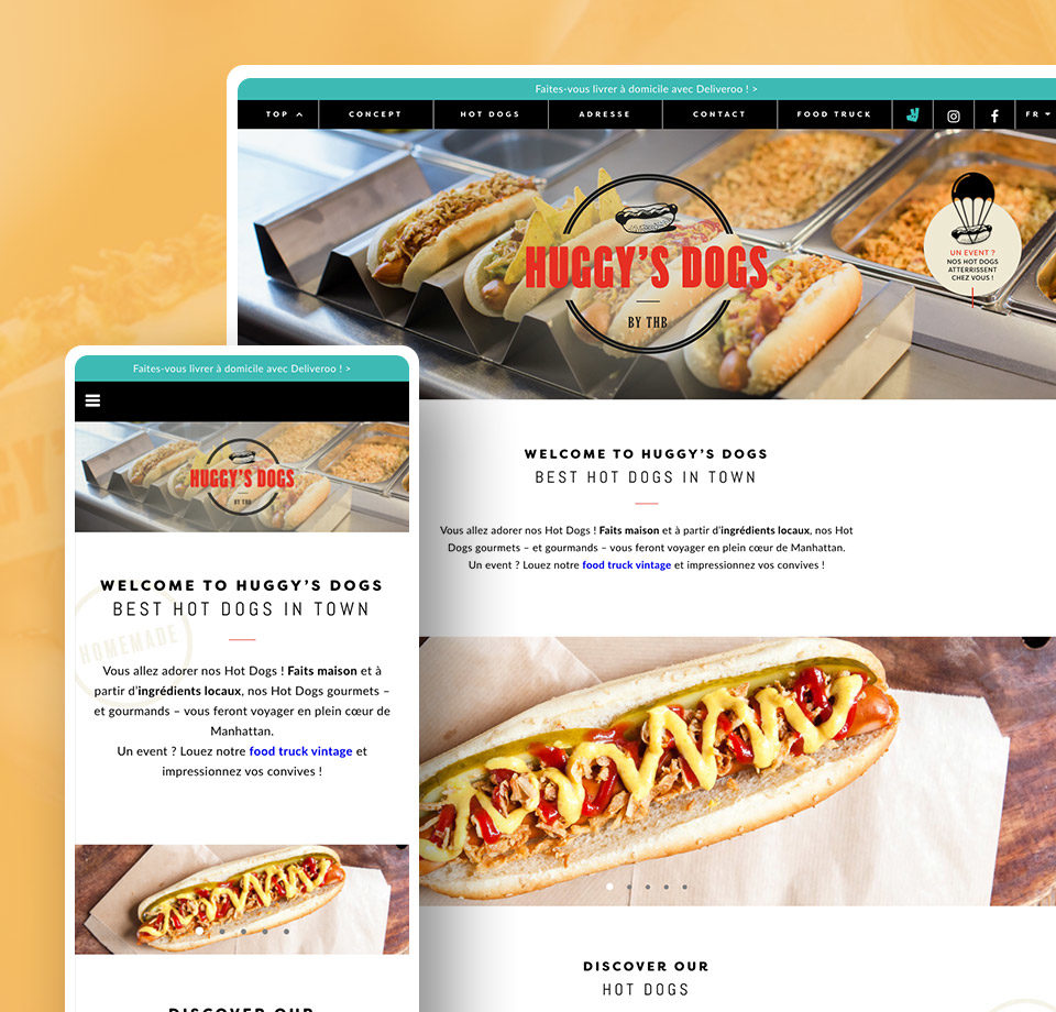 Projet - site internet de la société The Huggy's Dogs