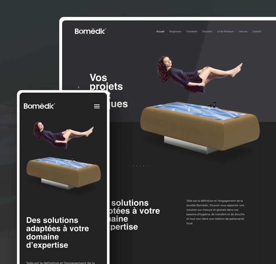 Projet - site internet de la société Bomédic